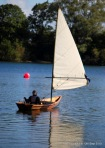 Dave ventures out for a sail in his new skiff